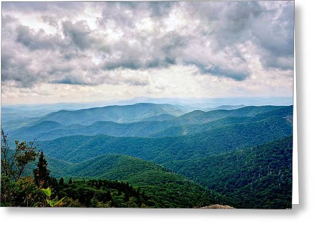 View From Devil's Courthouse Greeting Card