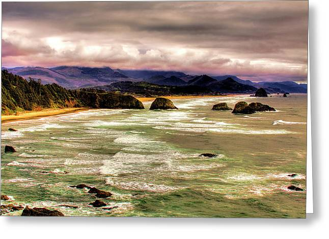 View From Ecola II Greeting Card by David Patterson