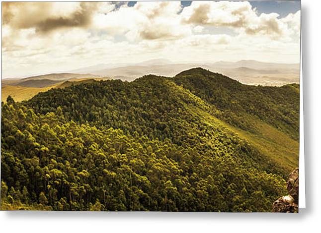View From Halfway Up Mount Zeehan Greeting Card by Jorgo Photography - Wall Art Gallery
