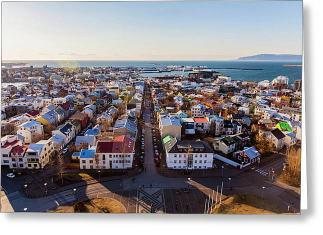 View From Hallgrimskirka Greeting Card by Wade Courtney