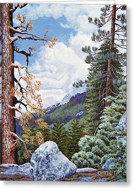 View From High Castle Greeting Card