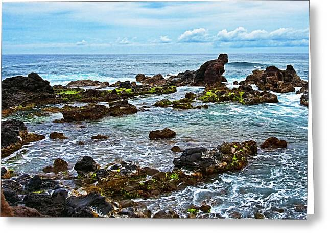 View From Ho'okipa Outlook Greeting Card by Marcia Colelli