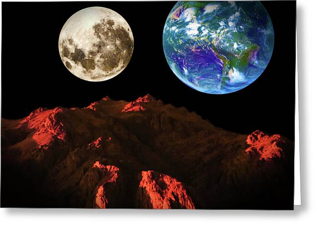 View From Mars Greeting Card by KaFra Art