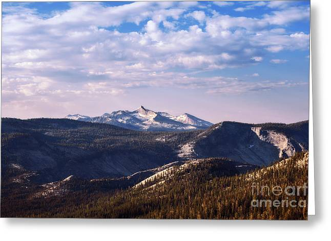 Greeting Card featuring the photograph View From May Lake by Sharon Seaward