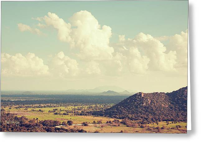 View From Mihintale Greeting Card by Joseph Westrupp