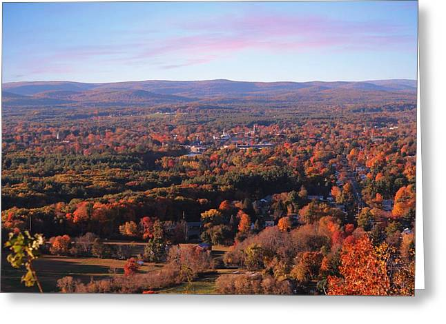 View From Mount Tom In Easthampton, Ma Greeting Card