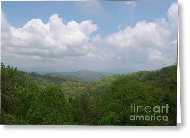 View From Ober Gatlinburg Greeting Card by Barb Montanye Meseroll