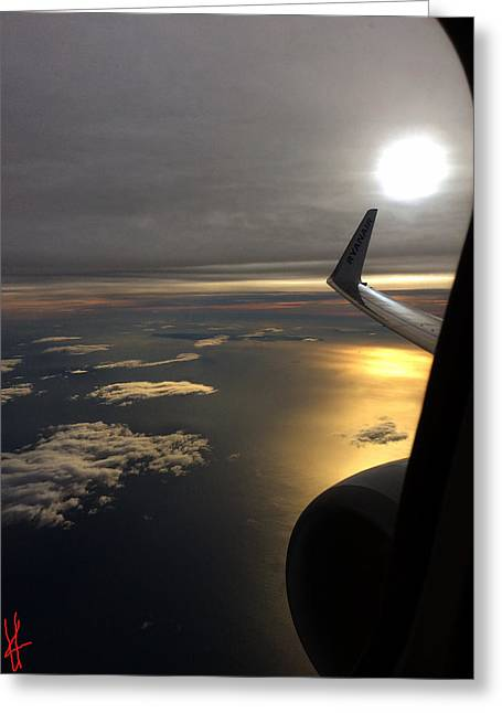 View From Plane  Greeting Card