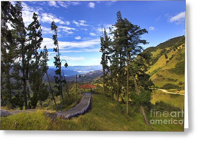 View From Portete Ecuador Greeting Card by Al Bourassa