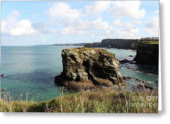 Greeting Card featuring the photograph View From Porth Peninsula by Nicholas Burningham