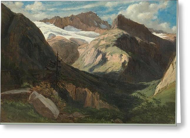 View From Prechalp Towards Tanzbdeli And Tschingelhorn With The Schmadri Glacier Greeting Card