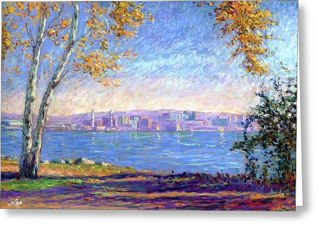 View From Presque Isle Greeting Card by Michael Camp