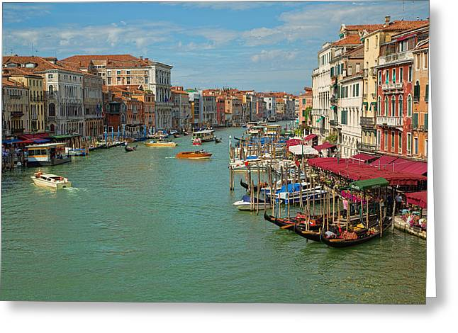 Greeting Card featuring the photograph View From Rialto Bridge by Sharon Jones