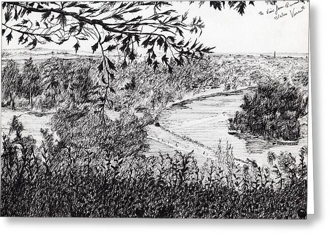View From Richmond Hill Greeting Card by Vincent Alexander Booth