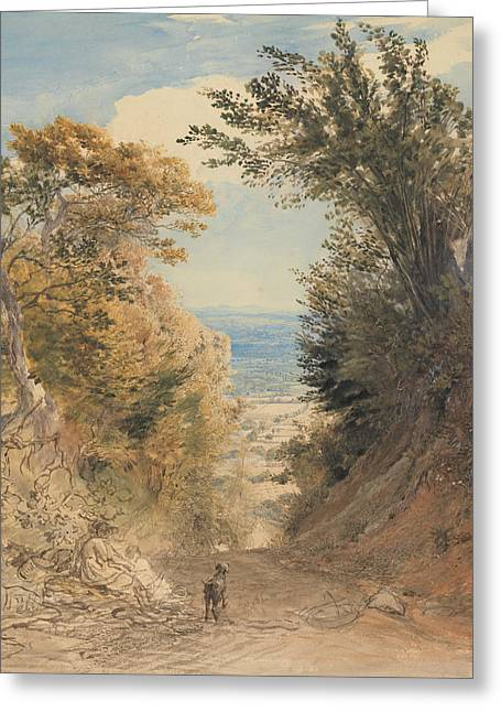 View From Rook's Hill, Kent Greeting Card by Samuel Palmer