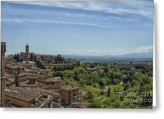 View From Sienna In Italy Greeting Card