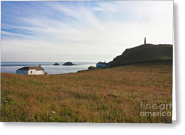View From St Helen's Oratory Cape Cornwall Greeting Card