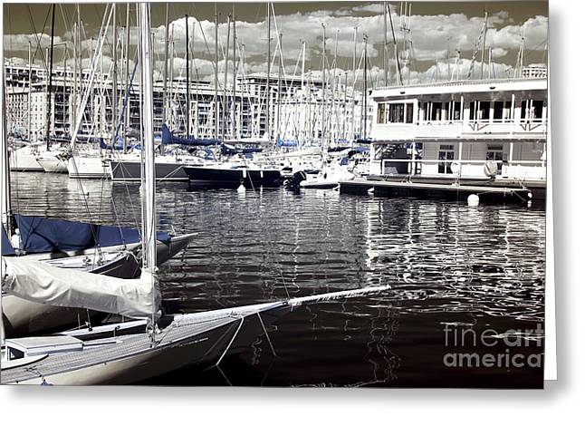 View From The Bow Greeting Card by John Rizzuto