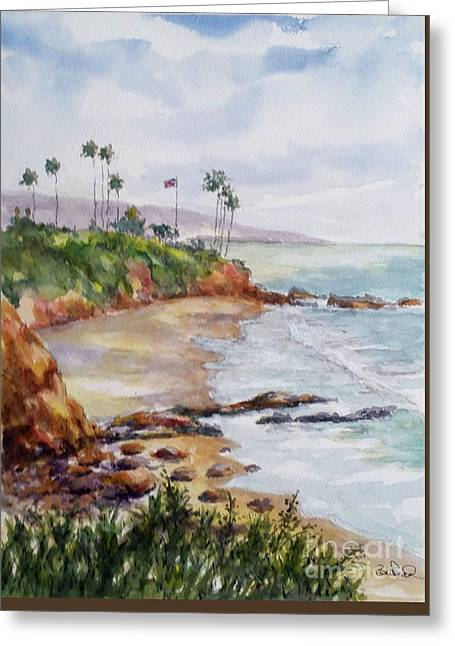 View From The Cliff Greeting Card by William Reed
