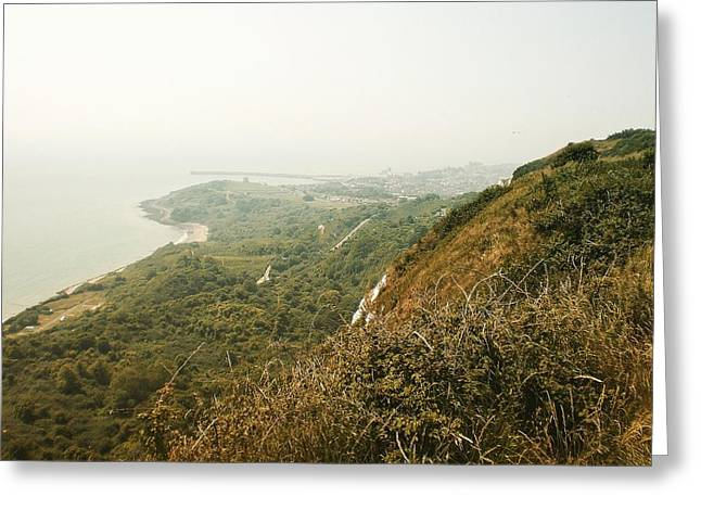 View From The Cliffs, Folkestone, Kent, England Greeting Card