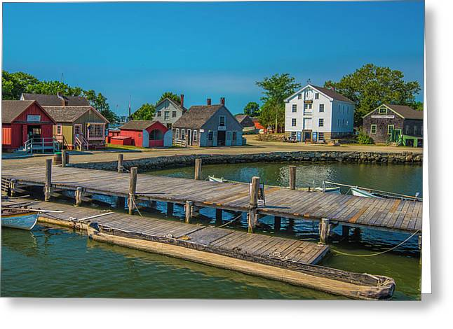 Greeting Card featuring the photograph View From The Dock by Steven Ainsworth