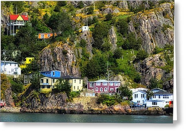 View From The Harbor St Johns Newfoundland Canada Greeting Card