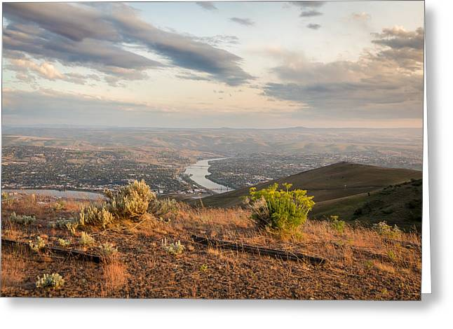 View From The Hill Greeting Card by Brad Stinson