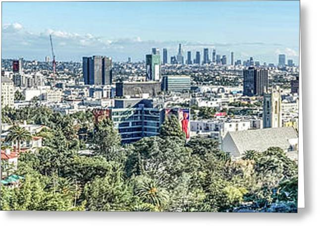 View From The Hollywood Hills Greeting Card by Ike Krieger