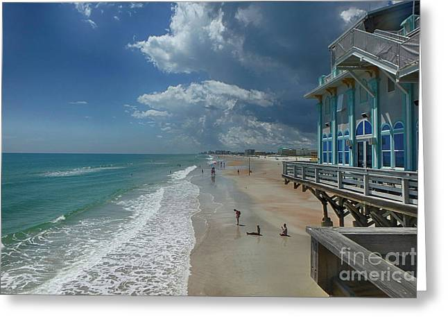 View From The Pier Greeting Card by Judy Hall-Folde
