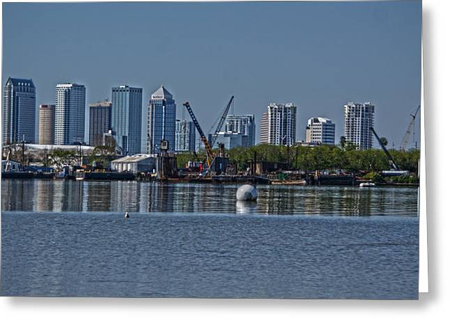 View From The Port Greeting Card by Chauncy Holmes