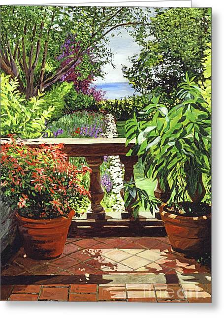 View From The Royal Garden Greeting Card by David Lloyd Glover