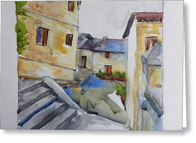 View From The Steps  Greeting Card by Janet Butler
