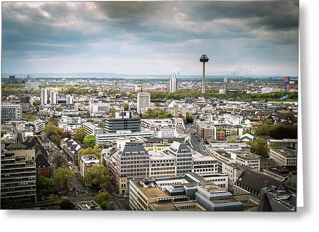 View From The Top - Cologne Cathedral - Germany Greeting Card by Jon Berghoff