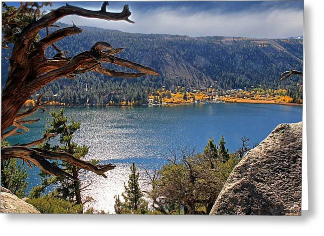 Greeting Card featuring the photograph View From The Top Of June Lake by Donna Kennedy