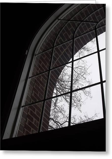 Anna Villarreal Garbis Greeting Cards - View from the Window Greeting Card by Anna Villarreal Garbis
