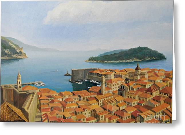 View From Top Of The World Greeting Card by Kiril Stanchev