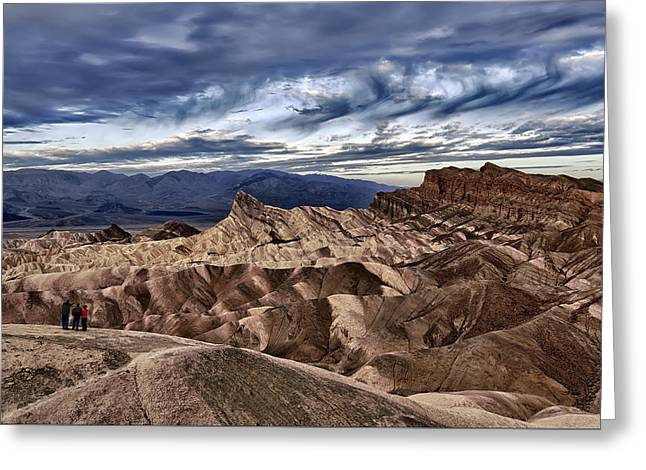View From Zabriskie Point  Greeting Card