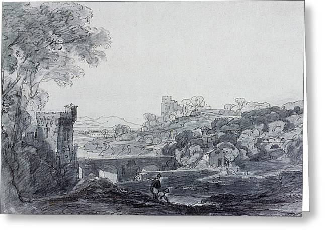 View In Italy Greeting Card by Sir Augustus Wall Callcott