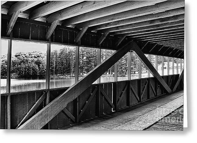 View Inside Covered Bride Black And White Greeting Card by Jeanne OConnor