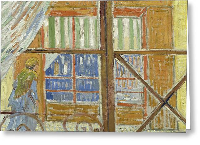 View Of A Butcher's Shop Greeting Card by Vincent van Gogh