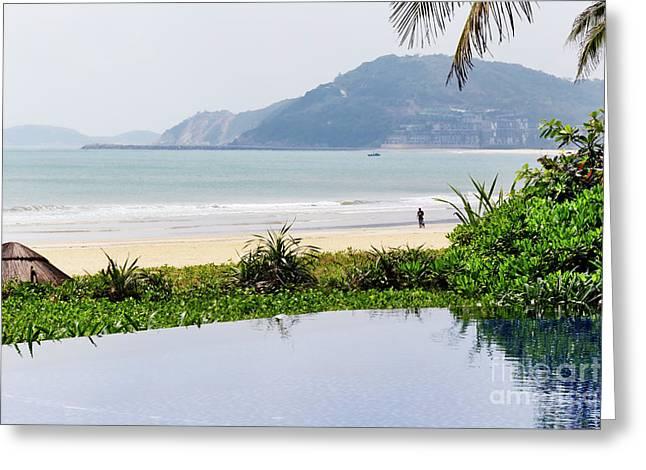 View Of A Tropical Beach In Hainan Island - China Greeting Card