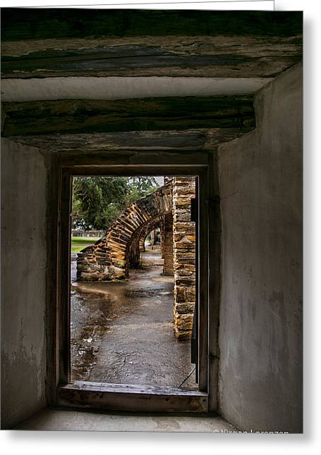 View Of Arched Walkway Mission San Jose Greeting Card