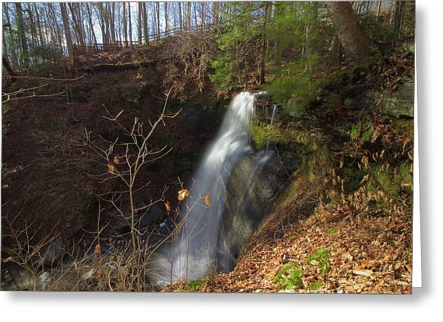 View Of Buttermilk Falls Greeting Card by Brian Hamilton