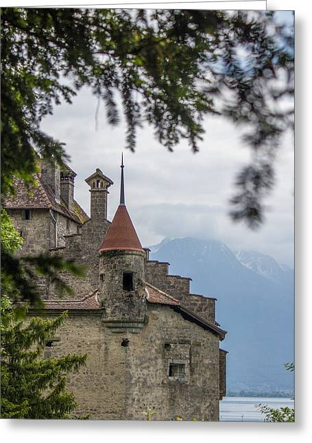 View Of Chillon Castle Greeting Card by Lisa Lemmons-Powers