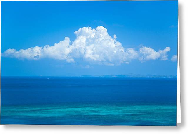 View Of Clouds Over Ocean Greeting Card by Panoramic Images