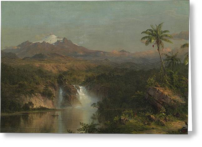 View Of Cotopaxi Greeting Card by Frederic Edwin Church