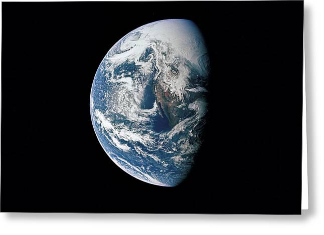 View Of Earth Taken From The Apollo 13 Greeting Card