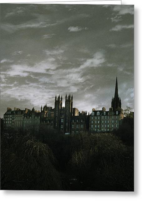 view of Edinburgh Greeting Card by Cambion Art