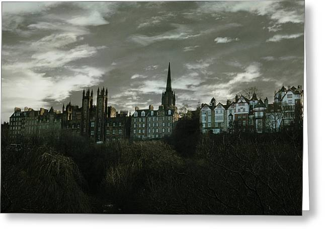 view of Edinburgh II Greeting Card by Cambion Art