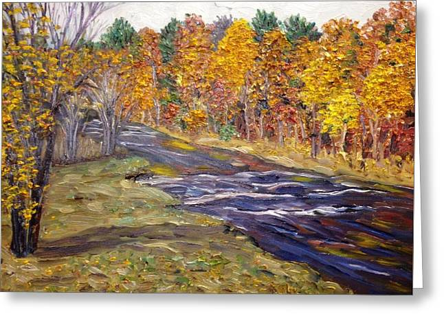 View Of Fall Colors, Westfield River Greeting Card by Richard Nowak